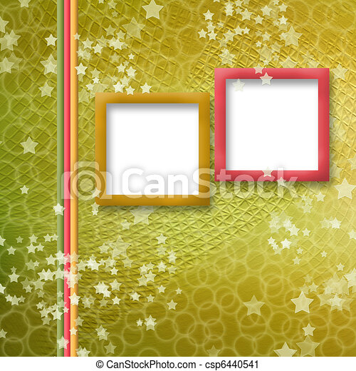 multicoloured holiday frames for greetings or invitations - csp6440541