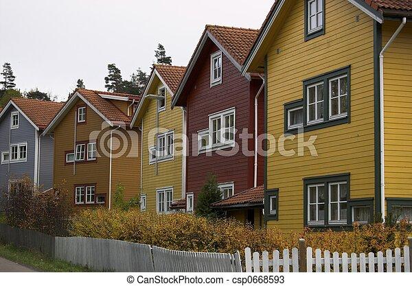 Multicoloured Houses - csp0668593