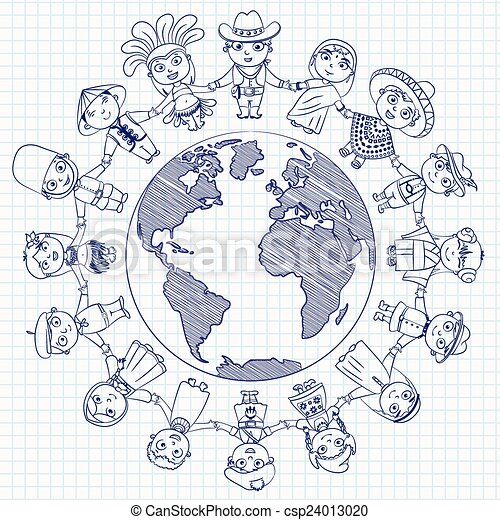 Personaje multicultural - csp24013020
