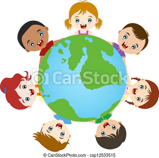 multicultural children hand in hand on earth clipart search rh canstockphoto com free multicultural clipart for teachers free multicultural clipart for teachers