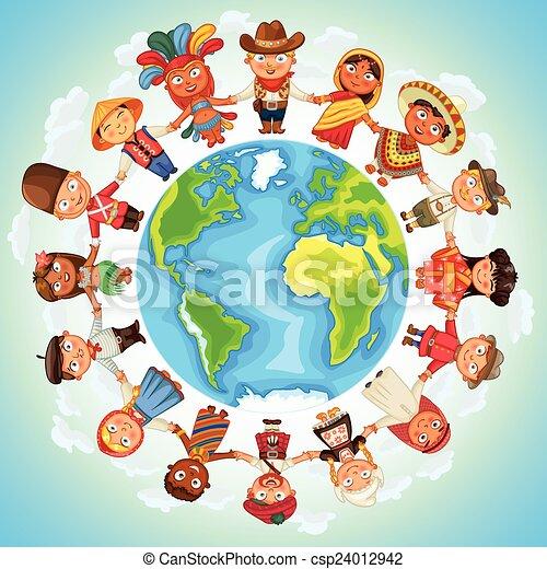 multiculturel, caractère - csp24012942