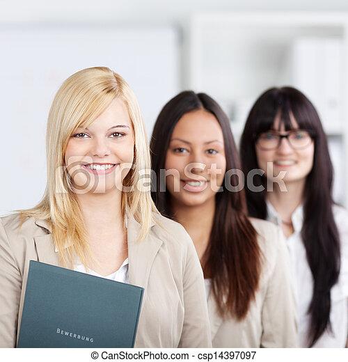 Multiethnic Businesswomen Standing Together In Office - csp14397097