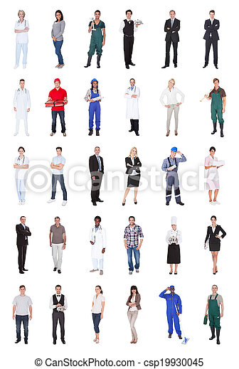 Multiethnic People With Various Occupations - csp19930045