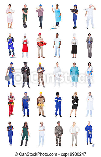 Multiethnic People With Various Occupations - csp19930247