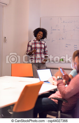 Multiethnic startup business team on meeting - csp44027366