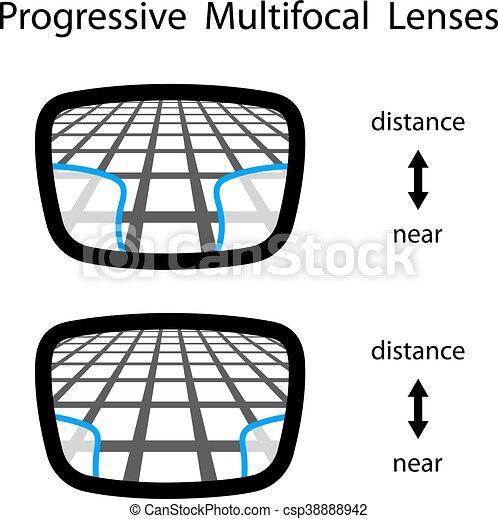 89b3884179044 Multifocal, progressivo, lentes, óculos. Multifocal, teia ...