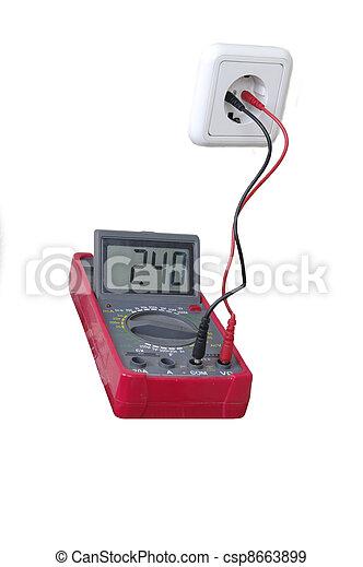 multimètre, numérique - csp8663899