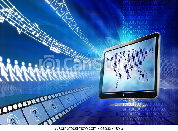 multimédia, portail - csp3371096