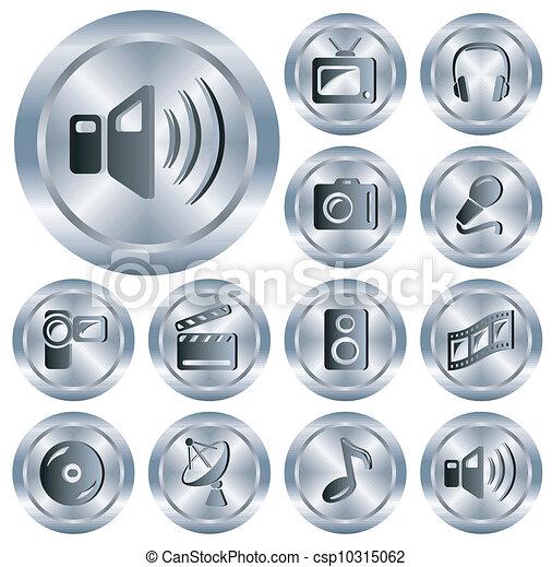 Multimedia buttons - csp10315062