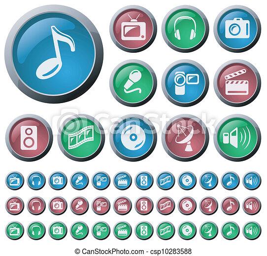 Multimedia buttons - csp10283588