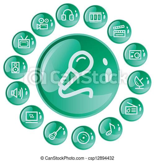 Multimedia buttons - csp12894432