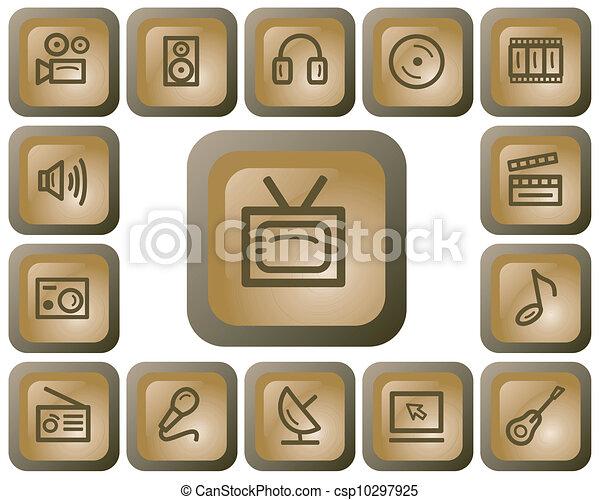 Multimedia buttons - csp10297925