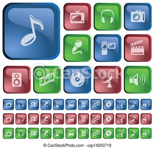 Multimedia buttons - csp14250718