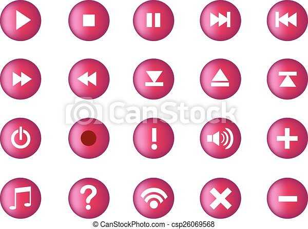Multimedia Computer Icon Set - csp26069568