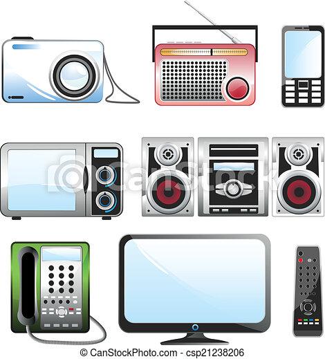 Juego de iconos Multimedia - csp21238206