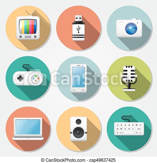 Multimedia flat icons - csp49637425