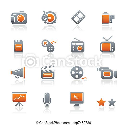 Multimedia Icons / Graphite Series - csp7482730