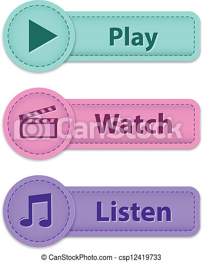 Multimedia web buttons - csp12419733