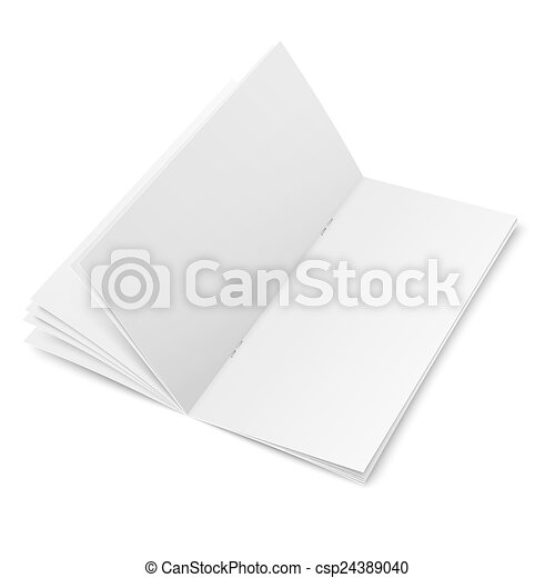 multi page brochure template - multipage brochure template on white background empty