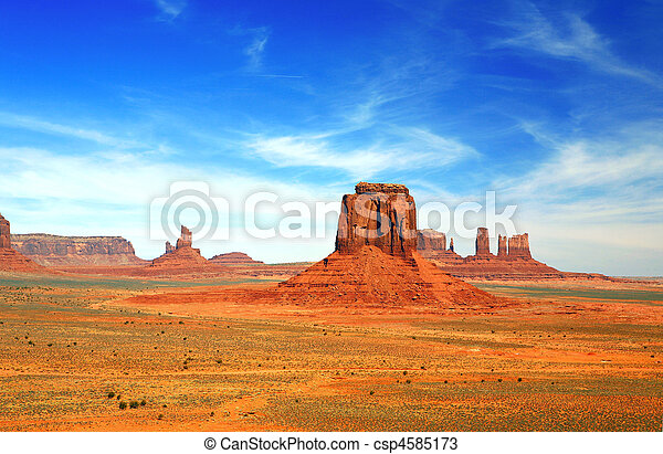 Multiple Buttes of Monument Valley  - csp4585173