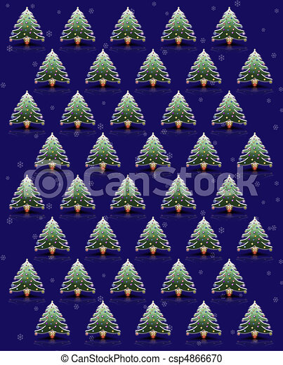 Multiple Christmas Trees