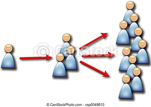 Gente multiplicándose - csp0049810
