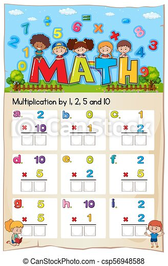 Multiplikation, mathematik, arbeitsblatt, kapitel, zahl. Kapitel ...