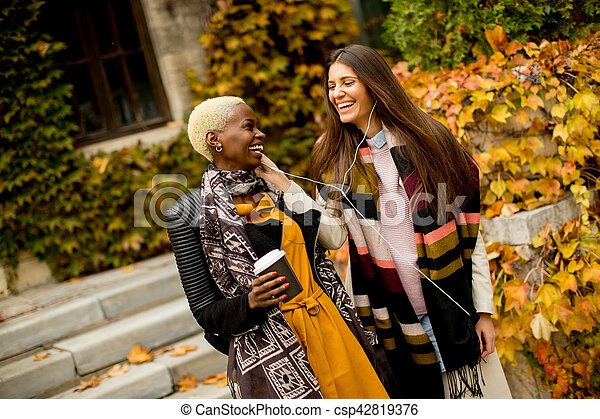 Multiracial friends - csp42819376