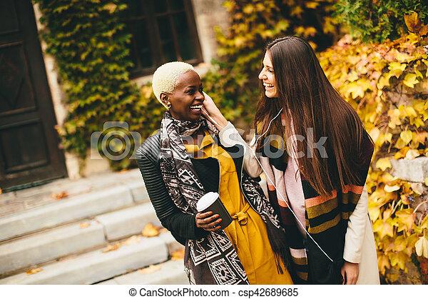 Multiracial friends - csp42689685