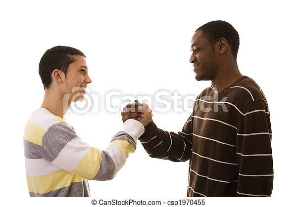 multiracial friends - csp1970455