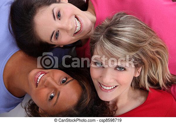 Multiracial friends - csp8598719