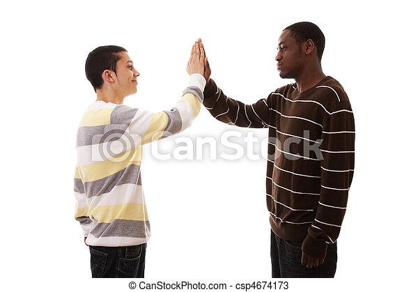 multiracial friends - csp4674173