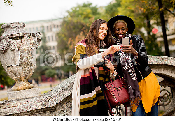 Multiracial friendship - csp42715761