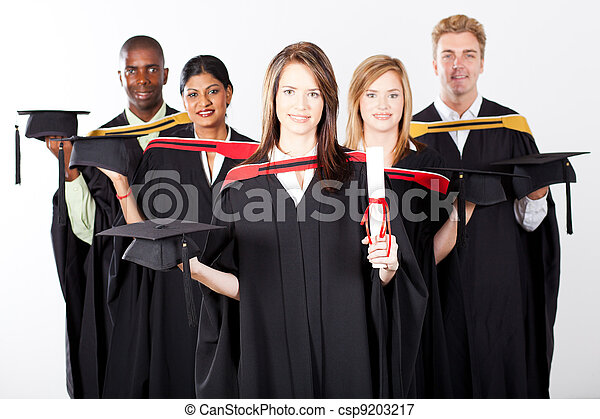 multiracial grupa, skala, absolwenci - csp9203217