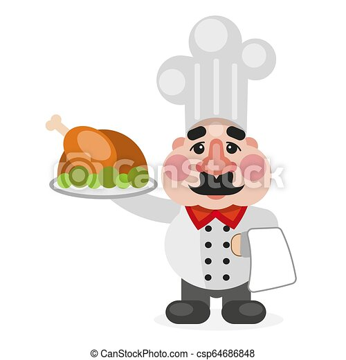Multitasking african american flat chef cook. - csp64686848