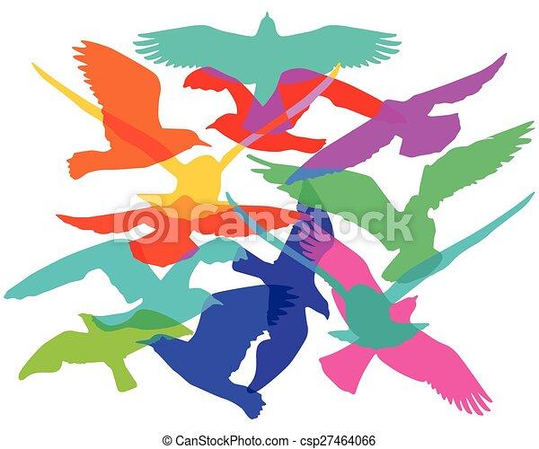 Flock of birds - csp27464066