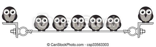 Flock of birds - csp33563303