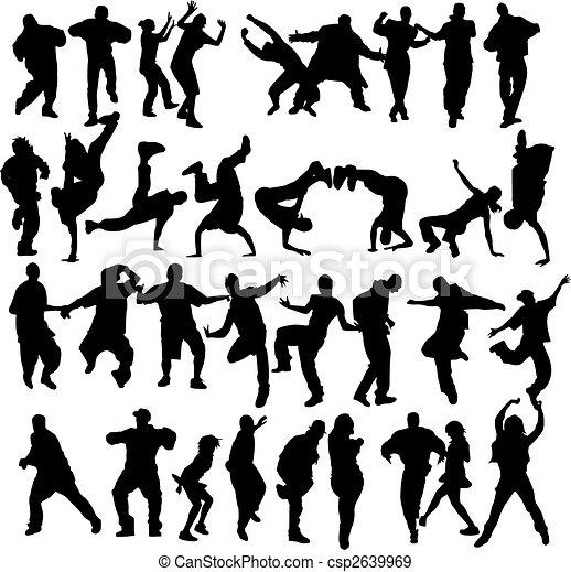 Baile de multitud - csp2639969