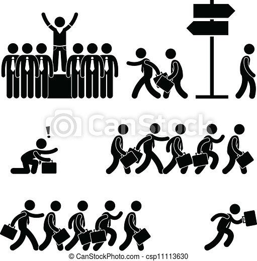Saliendo de la multitud - csp11113630