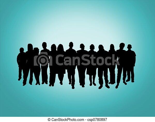 Mucha gente - csp0780897