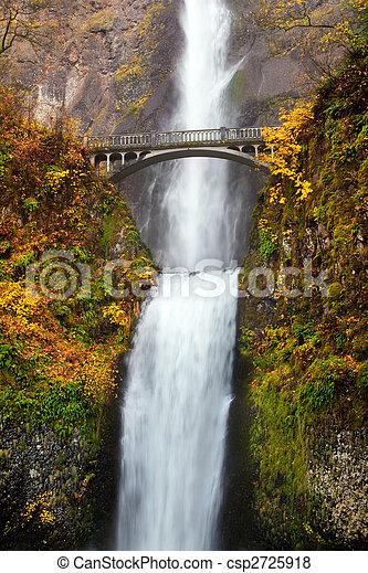 multnomah, chute eau, -, orégon, chutes - csp2725918