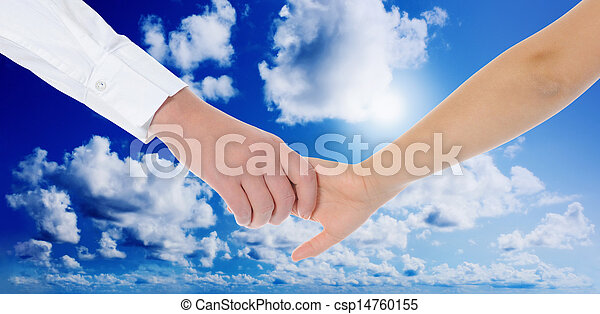 Mum holding the hand of his daughter - csp14760155