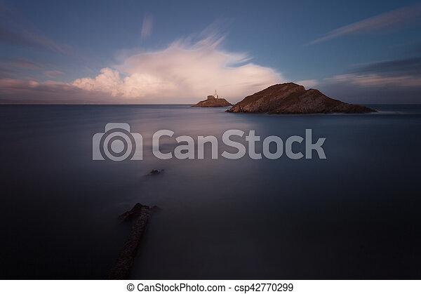 Mumbles lighthouse Swansea - csp42770299