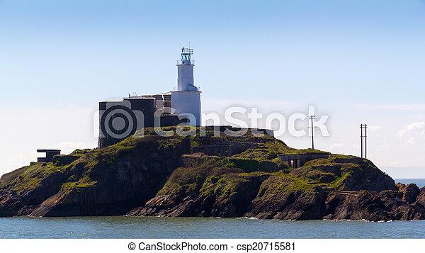 Mumbles Lighthouse Wales - csp20715581