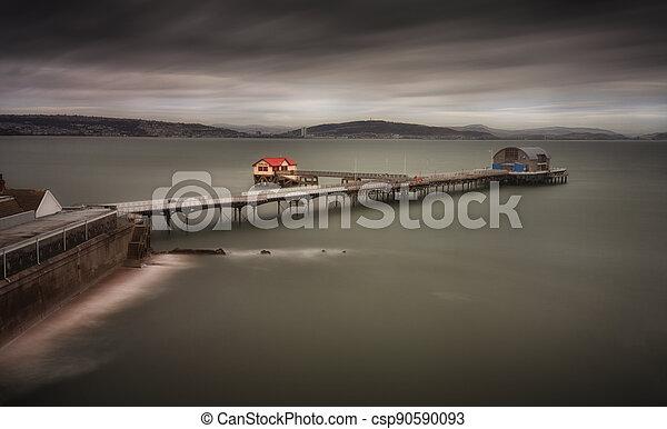 Mumbles Pier in Swansea Bay - csp90590093