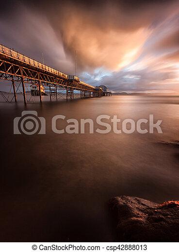 Mumbles pier sunrise - csp42888013