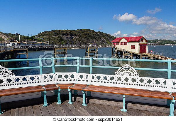 Mumbles Pier Wales - csp20814621