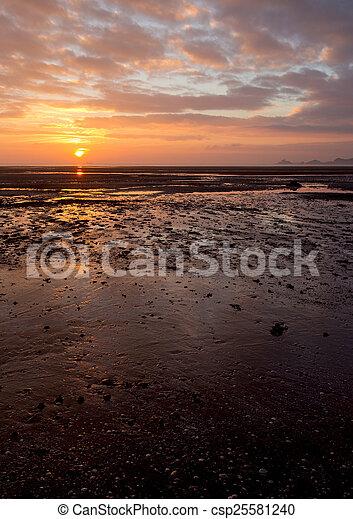 Mumbles sunrise vertical - csp25581240