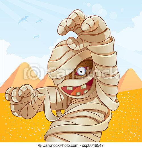 Mummy Cartoon - csp8046547