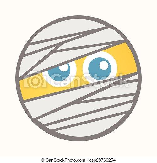Mummy - Cartoon Smiley Vector Face - csp28766254